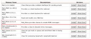 PHP MIME Mail decoder class