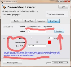 Portable Presentation Pointer