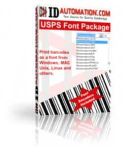 Postnet and Intelligent Mail Barcode Fonts