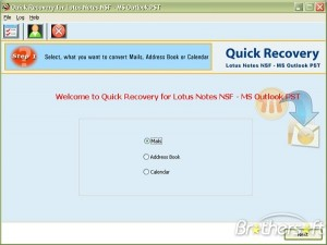 Quick Recovery for Lotes Notes NSF to MS Outlook PST