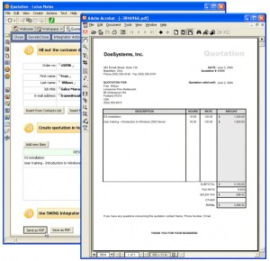 Quotations and Invoices