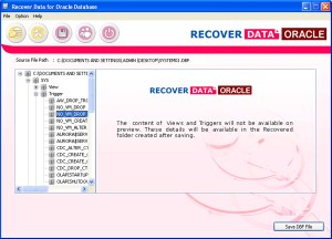 Recover Data for Oracle Database
