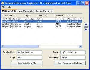 Recovery for Outlook Express