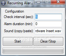 Recurring Alarm Timer
