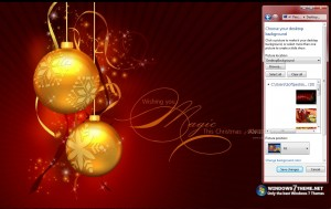 Red Christmas Windows 7 Theme with music