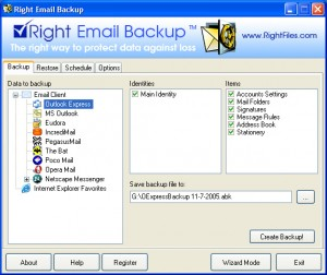 Right Email Backup