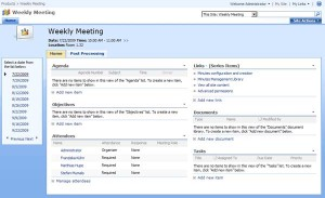 SharePoint Meeting Manager