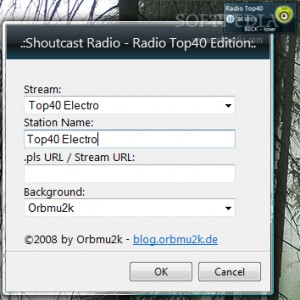 Shoutcast Gadget – Radio Top40 Edition