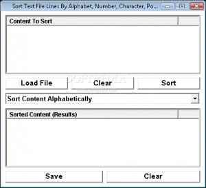 Sort Text File Lines By Alphabet, Number, Character, Position & Length Software