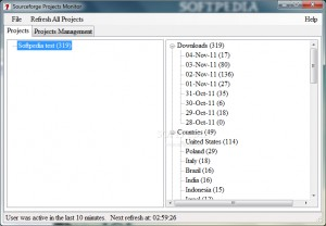 Sourceforge Projects Monitor