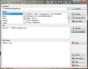 SQLite Simple Manager