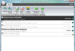 Static Outlook Express Backup Free