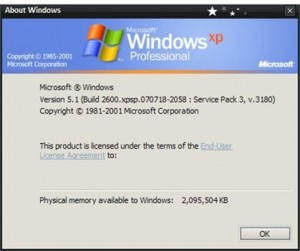 Symbols Package for Windows XP Service Pack3