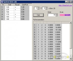 System bets calc