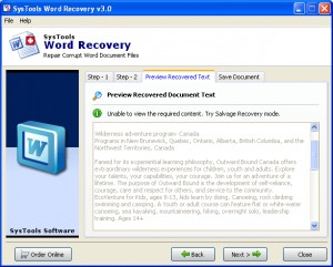 SysTools Word Recovery