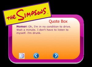 The Simpsons Quote Box