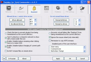 Tweak Total Commander