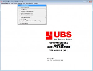 UBS Lawyer Client Account