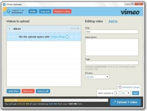 Vimeo Desktop Uploader