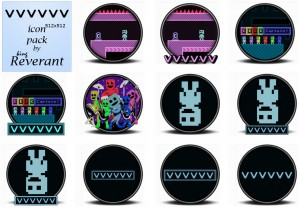 VVVVVV game icon pack