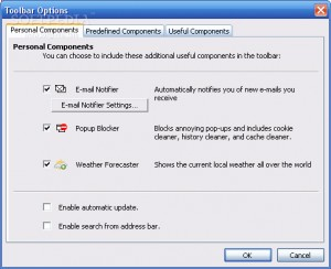 Web Considerations toolbar for IE