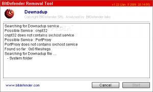 Win32.Worm.Downadup Removal Tool