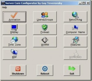 Windows 2008 Server Core Configurator