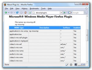 Windows Media Player Firefox Plugin