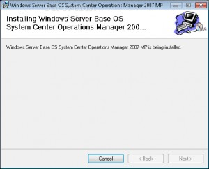 Windows Server Operating System Management Pack for Operations Manager 2007