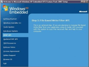 Windows XP Embedded with SP2