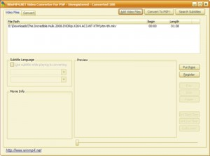 WinMP4.NET Video Converter For PSP