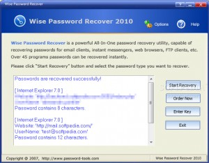 Wise Password Recover 2010