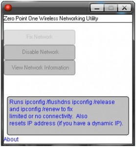 Zero Point One Wireless Networking Utility Helper