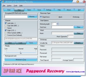 ZIP RAR ACE Password Recovery