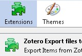 Zotero Export files to the filesystem